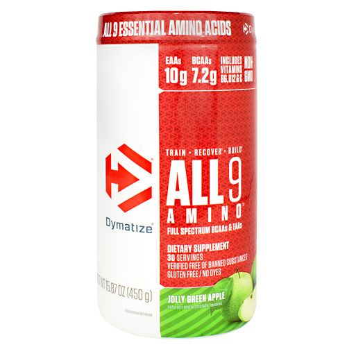 Dymatize All 9 Amino - Jolly Green Apple - 30 ea