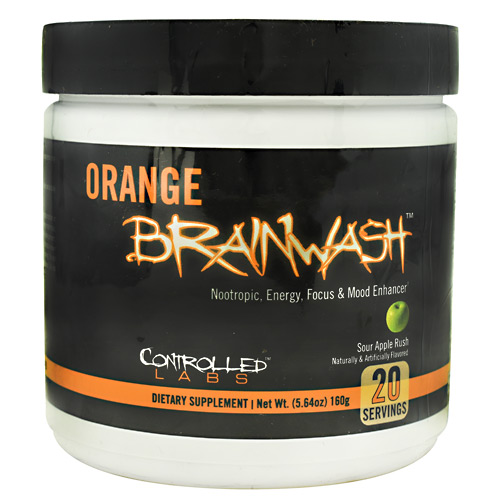 Controlled Labs Orange Brainwash - Sour Apple Rush - 20 ea