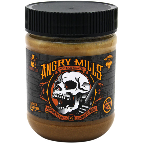 Sinister Labs Non-Caffeinated Angry Mills Peanut Spread - Killer Caramel - 12 oz