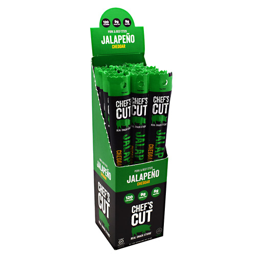 Chefs Cut Real Jerky Pork & Beef Stick Real Snack Sticks - Jalapeno - 16 ea