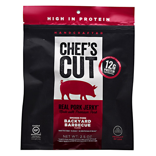 Chefs Cut Real Jerky Real Pork Jerky - Backyard Barbecue - 2.5 oz