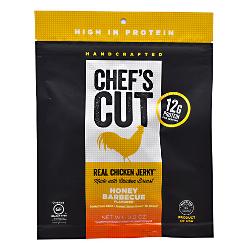 Chefs Cut Real Jerky Real Chicken Jerky - Honey Barbecue - 2.5 oz