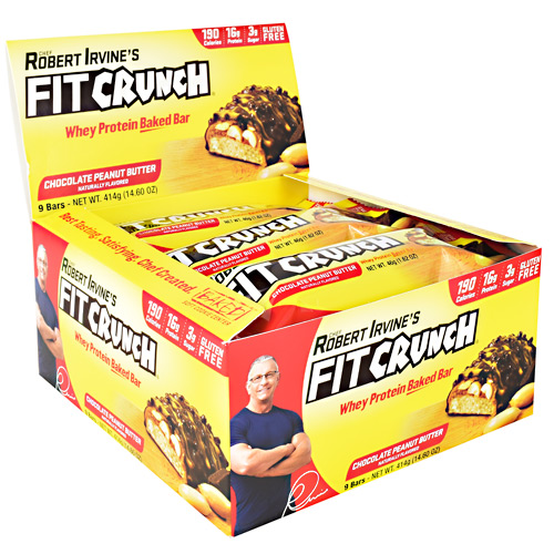 Fit Crunch Bars Fit Crunch Bar - Chocolate Peanut Butter - 9 ea
