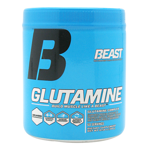 Beast Sports Nutrition Glutamine - Unflavored - 60 ea