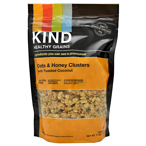 Kind Snacks Healthy Grains Whole Grain Clusters - Oats and Honey - 11 oz