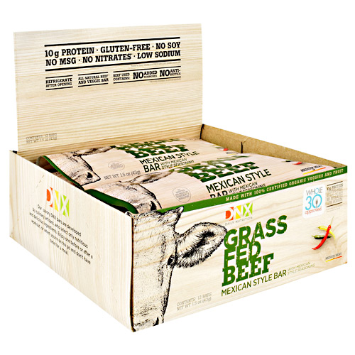 DNX Bars Grass Fed Beef Bar - Mexican Style - 12 ea