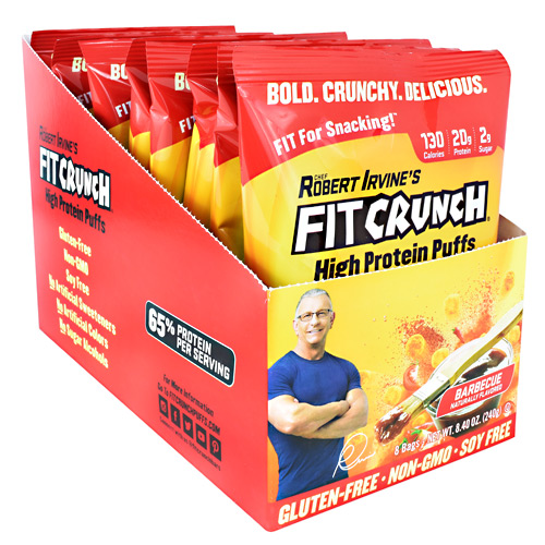 Fit Crunch Bars High Protein Puffs - Barbecue - 8 ea