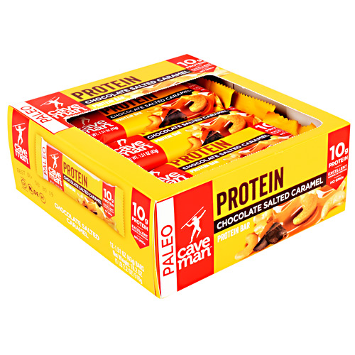 Caveman Foods Paleo Protein Bar - Chocolate Salted Caramel - 12 ea