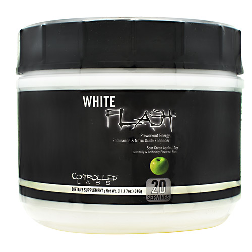 Controlled Labs White Flash - Sour Green Apple - 20 ea