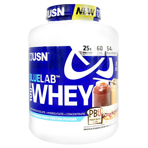 Usn Blue Lab 100% Whey - Peanut Butter and Jelly - 4.5 lb