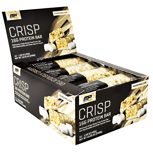 MusclePharm Combat Series Crisp Protein Bar - Marshmallow - 12 ea