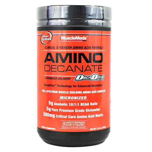 Muscle Meds Amino Decanate - Fruit Punch - 30 ea
