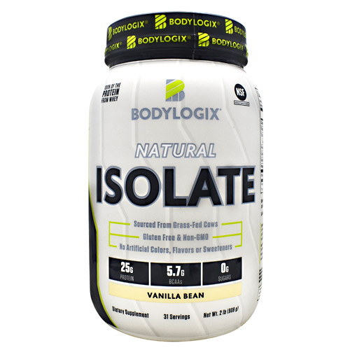 BodyLogix Natural Isolate Protein - Vanilla Bean - 2 lbs