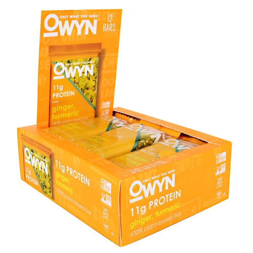 Only What You Need OWYN Bar - Ginger, Turmeric - 12 ea