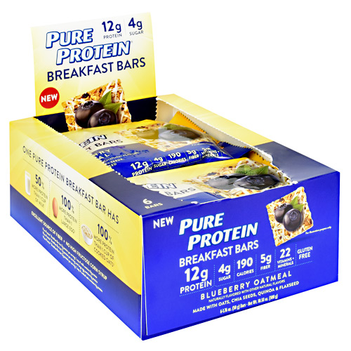 Pure Protein Breakfast Bars Breakfast Bar - Blueberry Oatmeal - 1 ea