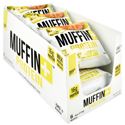 Bake City/ Protein+ Muffin+ Protein - Banana Nut - 6 ea