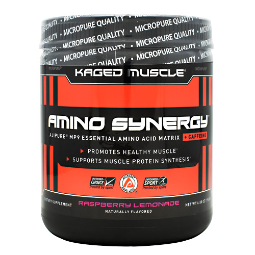 Kaged Muscle Amino Synergy + Caffeine - Raspberry Lemonade - 30 ea