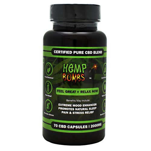 Hemp Bombs CBD Capsules - 2000 mg