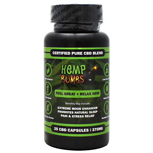 Hemp Bombs CBD Capsules - 375 mg