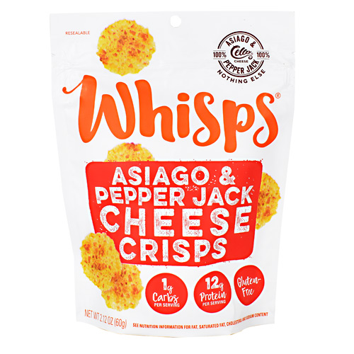Schuman Cheese Whisps Cheese Crisps - Asiago and Pepper Jack - 12 ea