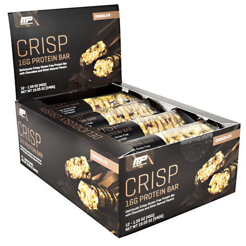 MusclePharm Combat Series Crisp Protein Bar - Chocolate - 12 ea