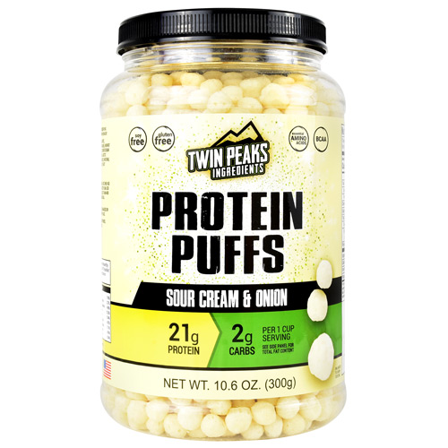 Twin Peaks Ingredients Protein Puffs - Sour Cream & Onion - 10 ea