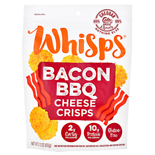 Schuman Cheese Whisps Cheese Crisps - Bacon BBQ - 12 ea