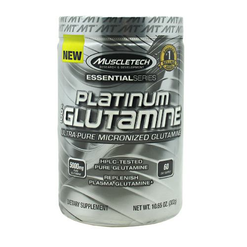 Muscletech Essential Series 100% Platinum Glutamine - Unflavored - 60 ea