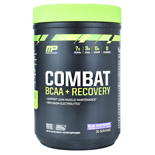 MusclePharm Combat Series Combat BCAA + Recovery - Blue Raspberry - 30 ea