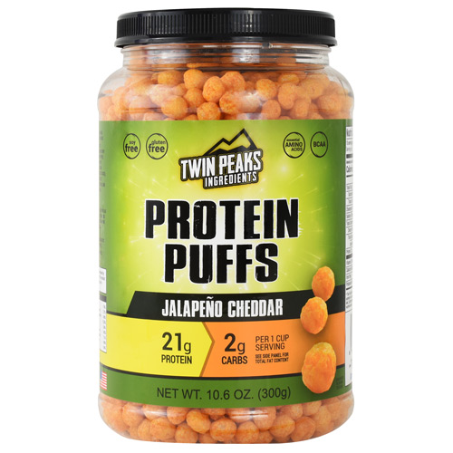 Twin Peaks Ingredients Protein Puffs - Jalapeno Cheddar - 10 ea