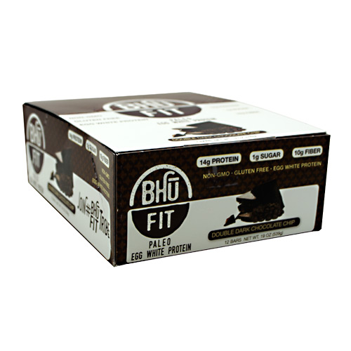 Bhu Foods BHU FIT BHU Fit Paleo - Double Dark Chocolate Chip - 12 ea
