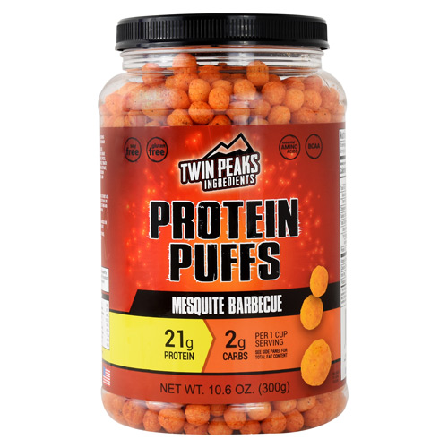 Twin Peaks Ingredients Protein Puffs - Mesquite Barbecue - 10 ea