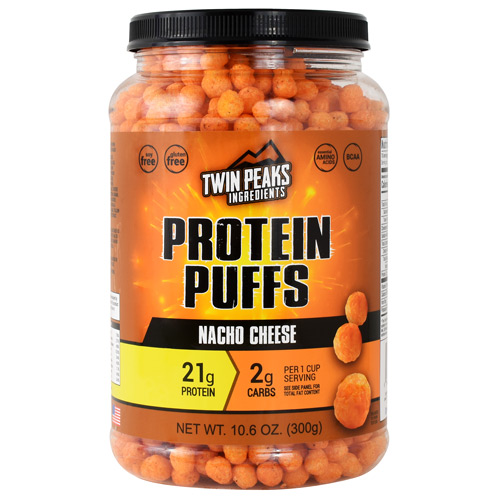 Twin Peaks Ingredients Protein Puffs - Nacho Cheese - 10 ea