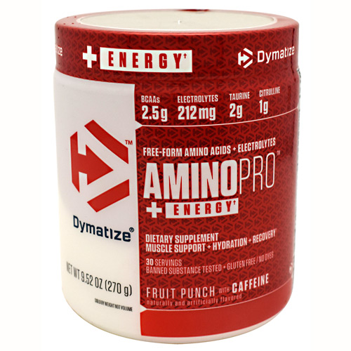 Dymatize AminoPro + Energy - Fruit Punch - 30 ea