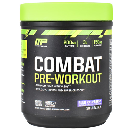 MusclePharm Combat Series Combat Pre-Workout - Blue Raspberry - 30 ea