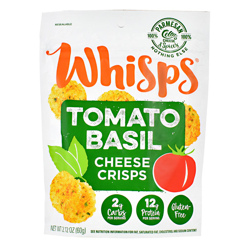 Schuman Cheese Whisps Cheese Crisps - Tomato Basil - 12 ea