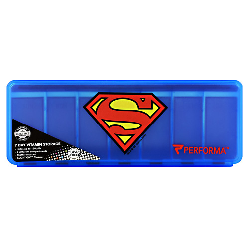 Perfectshaker 7 Day Vitamin Storage - Superman - 1 ea