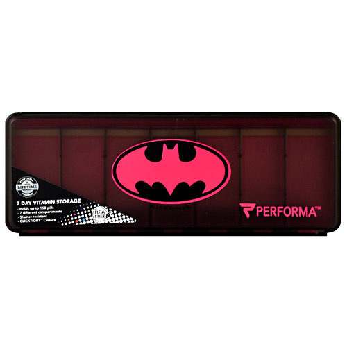 Perfectshaker 7 Day Vitamin Storage - Pink Batman - 1 ea