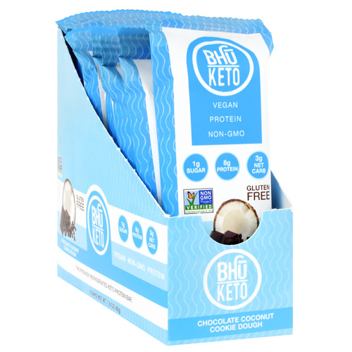 Bhu Foods BHU Keto - Chocolate Coconut Cookie Dough - 8 ea