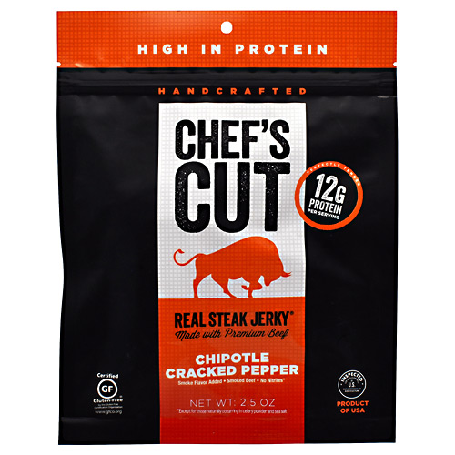 Chefs Cut Real Jerky Real Steak Jerky - Chipotle Cracked Pepper - 2.5 oz