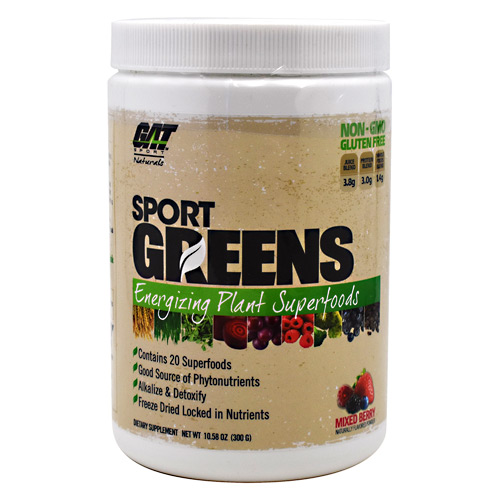 GAT Naturals Sport Greens - Mixed Berry - 30 ea