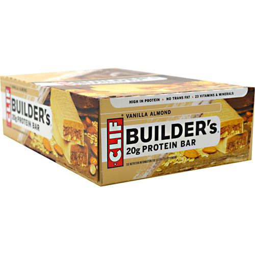 Clif Bar Builders Cocoa Dipped Double Decker Crisp Bar - Vanilla Almond - 12 ea
