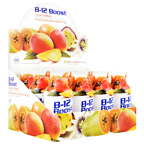 High Performance Fitness B-12 Boost - Tropical Blast - 12 ea