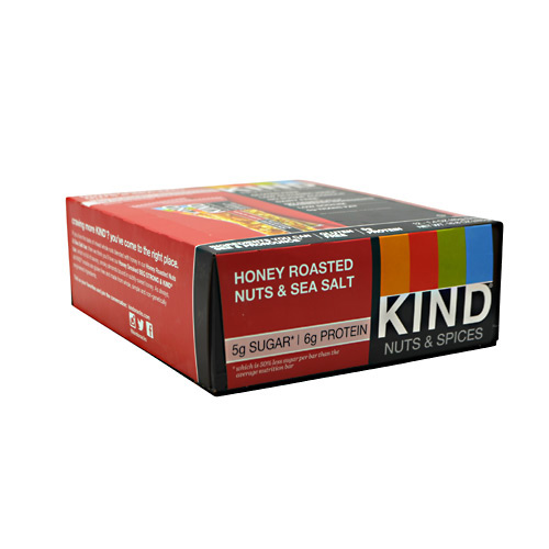 Kind Snacks Kind Fruit & Nut - Honey Roasted Nuts & Sea Salt - 12 ea