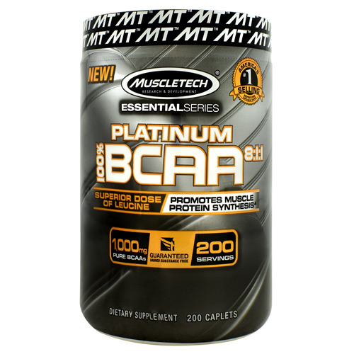Muscletech Essential Series Platinum 100%  BCAA 8:1:1 - 200 ea