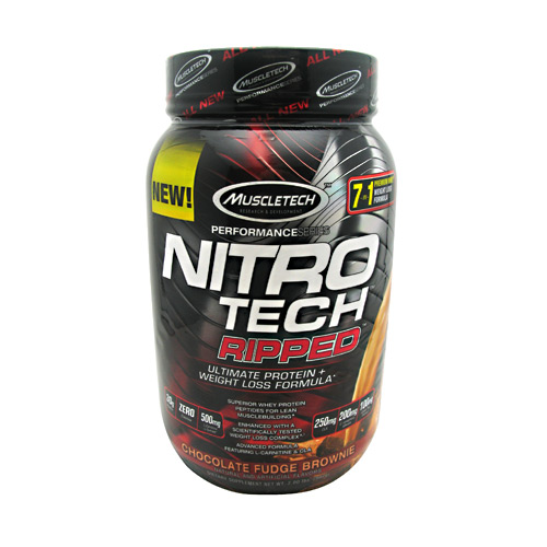 Muscletech Performance Series Nitro Tech Ripped - Chocolate Fudge Brownie - 2 lb