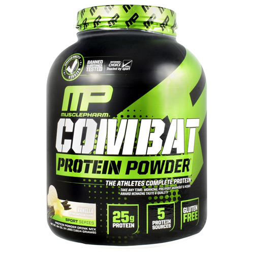 MusclePharm Sport Series Combat Protein Powder - Vanilla - 4 lb