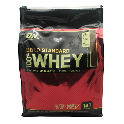 Optimum Nutrition Gold Standard 100% Whey - Extreme Milk Chocolate - 10 lb