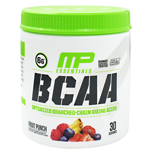 MusclePharm Essentials BCAA - Fruit Punch - 30 ea