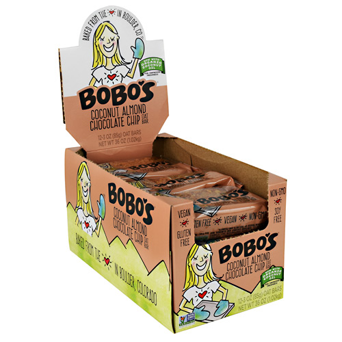 Bobos Oat Bar - Coconut Almond Chocolate Chip - 12 ea